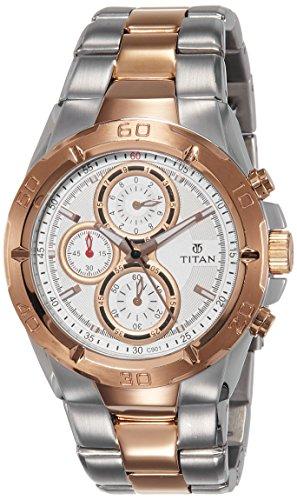 Titan Octane Grey Dial Chronographue Men's Watch 9308KM01