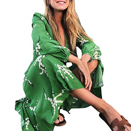 Yusealia Damen Cardigans,Blumen Drucken Chiffon Kimono Kleid Mehr -