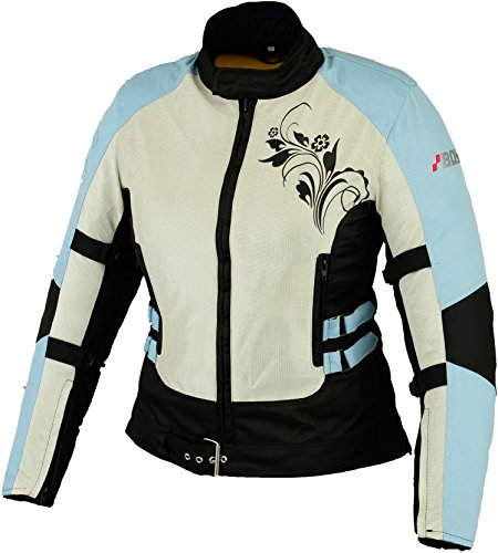 Sommer Motorradjacke Airmesh Motorrad Jacke Schwarz Gr. M, Blau (Womens Armee-motorrad-jacke)