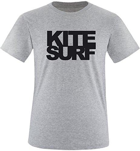 EZYshirt® Kitesurf Herren Rundhals T-Shirt Grau/Schwarz