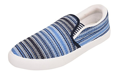 Foot n Style Men's Blue Canvas Sneakers Casual Shoes  available at amazon for Rs.444