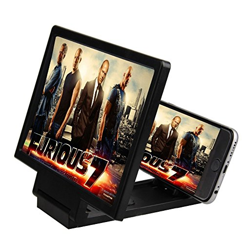 LipiWorld F1 Mobile Phone 3D Screen Magnifier 3D Video Screen amplifier Eyes Protection Enlarged Expander( F-1 Black)  available at amazon for Rs.189