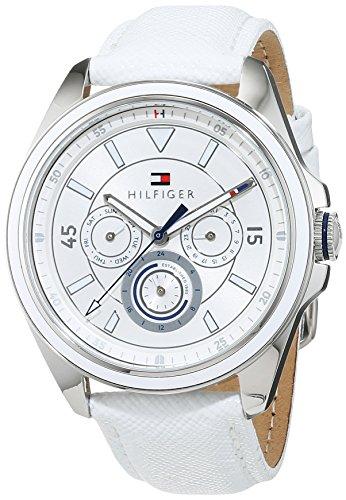Tommy Hilfiger Damen Analog Quarz Uhr mit Leder Armband 1781805