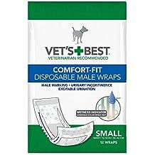 Vets Best - Pañales desechables para perro con indicador de humedad de, ajuste confortable,