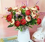 Cupcinu Blumentopf, Kunststoff, Leicht Flower Vase Plant Container für Home Garten Büro Dekoration (Weiß), Plastik, Weiß, 13 * 7 * 9 cm