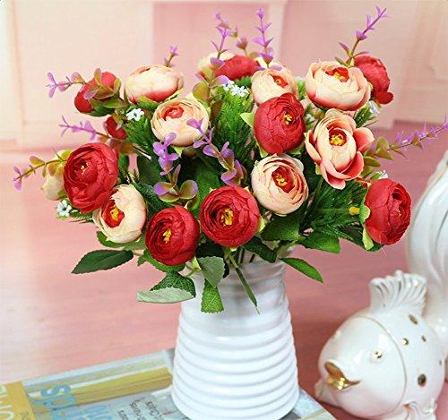Hosaire Vase Kreativ Plastik Vase Blumen Pflanzen Set Wohnzimmer Dekoration Blumen Arrangement Blume Vase,Weiss - 4