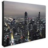 "Photo File Chicago Skyline Canvas Photo, 16"" x 20"", Multi"