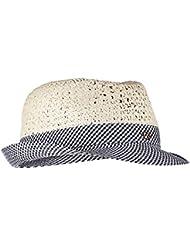 HAT Stripes Blue White Spring Summer Chervò