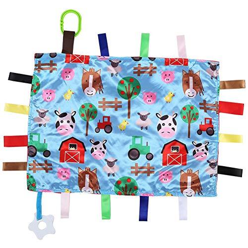 Baby-Sicherheitsdecke - WENTS Baby Beißring beruhigendes Handtuch Label Decke beruhigendes Massagetuch, Mini Sweet Soft und komfortabel