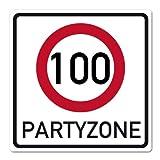 Herz & Heim® Riesiges PVC Verkehrsschild zum 100. Geburtstag 50cm x 50cm