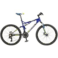 Boss Recoil Mens 24 speed dual suspension mountain bike with disc brakes