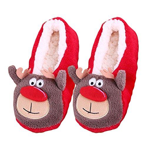 Les hommes les femmes mignonnes de Noël de dessin animé de style hiver doux Deer Style