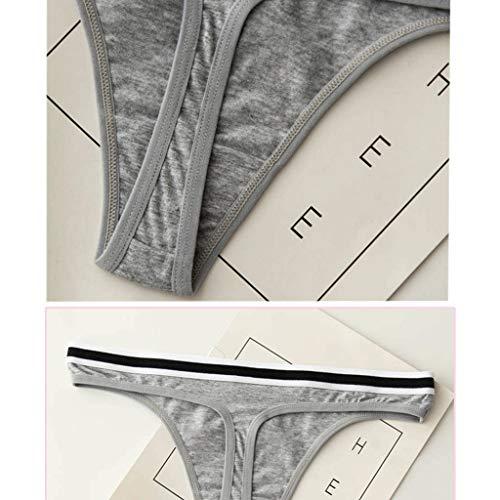 BBring 2020 Neu 6er Pack Einfarbig Tanga L Rosa 153077 (Bikini Bottom up Bikinislip G-String V-String Höschen Hipster ReizwäSche Unterhosen Panties Sportunterwäsche Bodywear) - 6