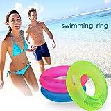 1PC 90cm gonfiabile nuoto anello con manico in PVC Addensato leggero pieghevole portatile estivo forniture piscina per adulti senza pompa, Green