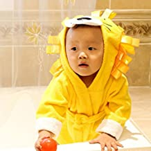 Camisón de la historieta animal para pijamas de franela con capucha bebé niñas niños Homewear Pijama Niños Suave Albornoz