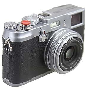 Dot.Foto Métallique Soft Déclencheur en rouge - Fujifilm X10, X20, X30, X100, X100S, X100T [Pour la compatibilité voir la description]