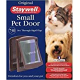 Staywell 730 Cat / Small Dog Door Flap Lockable Brown