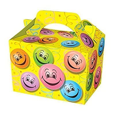 12 x Happy Face Lunch Boxes / Food Boxes by Playwrite