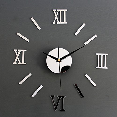 Roman Numeral Wall Clock Mirror ...