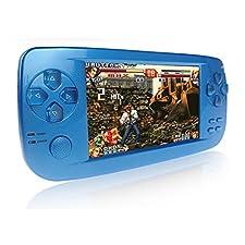 CXYP Handheld Spiele Konsolen, 4,3 Zoll 4GB Portable Video Game Errichtet in 600 Spiele mit Kamera (Blau)