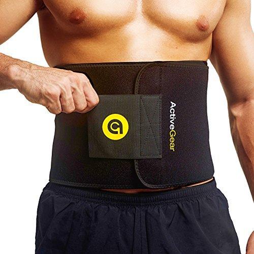 ActiveGear Waist Trimmer -Deportiva de Neopreno para Hombres y Mujeres, Soporte para el Área Lumbar Espalda Abdomen (Grande: 23cm x 117cm Amarillo)
