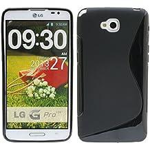S Line TPU–Carcasa para LG G Pro Lite D682silicona funda en negro @ Energmix