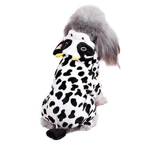 Legendog Hund Hoodie Kostüm Kreative Kuh Winter Warmes Haustier Kleidungs ()