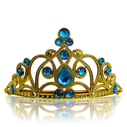 dchen Prinzessin Diadem, gold/hellblau (8-ball-halloween-kostüm)