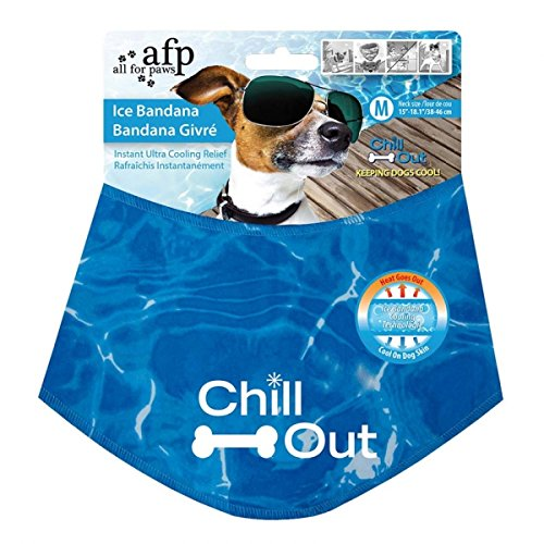 All for Paws Chill Out Ice Bandana Cooling Scarf for Dog Size XL