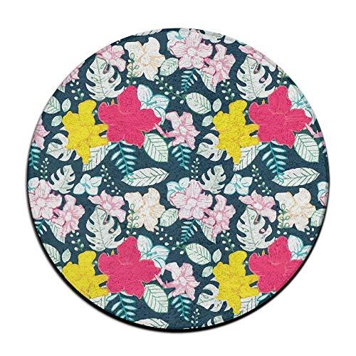 DDOBY Happy Valentinstag Badezimmer Teppich, 60cm Runde Flanell Mikrofaserschaum Badematte - rutschfeste weiche saugfähige Badezimmermatte Küchenboden Teppich, Rund Allzweck-Bodenmatte