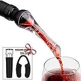 Mafiti Aérateur de vin Bec verseur décanteur Anti-Goutte pour Une aération du Verre Lors de l'écoulement du vin | Aérateur de décantation de vin Rouge | Bec à Décanter pour Bouteilles