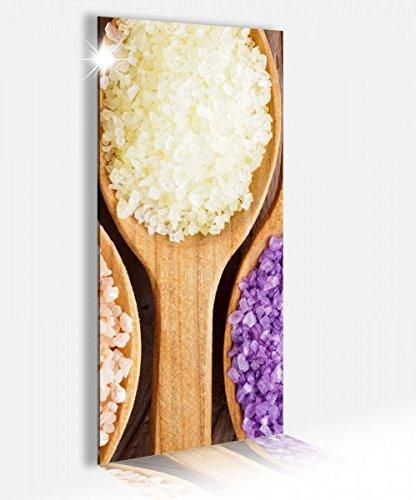 Salz Massage (Acrylglasbild 40x100cm Wellness Massage Meersalz Salz Spa Glasbild Bilder Acrylglas Acrylglasbilder Wandbild 14B281, Acrylglas Größe2:40cmx100cm)