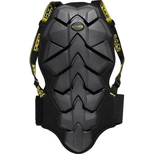 Safe Max® Rückenprotektor zum Umschnallen für Damen & Herren, Schutzkleidung Motorrad, luftdurchlässiges Komfortgewebe, integrierter Nierengurt, Bauart geprüft nach EN 1621-2, Schutzklasse 2, L