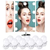 Estilo Hollywood, Beauty Star 10 LEDs Kit De Luces Para Maquillaje Cosmético, Luces LED Para Espejo Con Regulador De Intensidad Y Fuente De Poder, 13.5ft/4M (Espejo No Incluido)