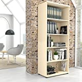 PROFI Bücherragel 5OH Regal Standregal Holzregal Wandregal Schrank Büro Ahorn