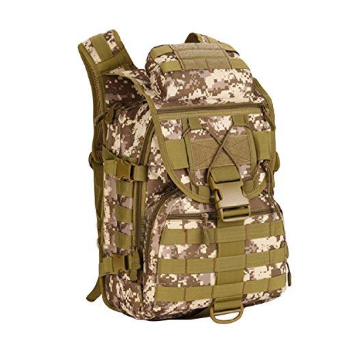 Tarnung Im Freien Bergsteigen Tasche 40 Liter Abmessungen: Breite Hoch 47x 31x 23 Cm Dick,Black DesertDigital