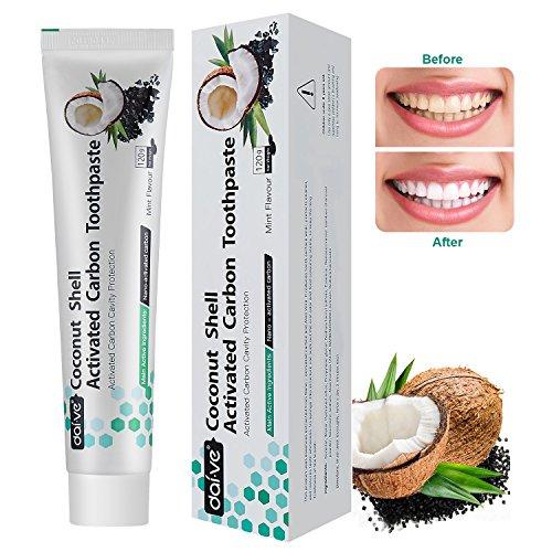 Vista Aktivkohle Zahnpasta Fluoridfrei Natürliche Zahncreme Teeth Whitening Schützt effektiv die Mundgesundheit (1 x 120 ()