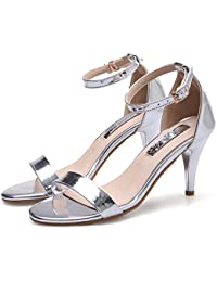 Frauen Elegant Low Mid Heel Wies Offene Spitze Hochzeit Casual Court Sandalen Flach Schuhe Barely There Heels