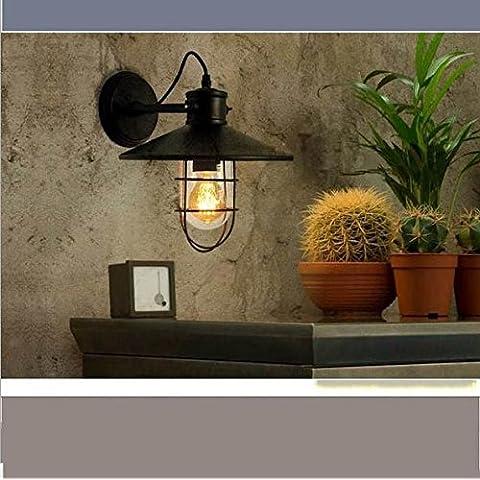 LINA-Muro industriale vintage Applique Lampada plafoniera per casa, Bar, ristoranti, Coffee Shop, Club decorazione Lampada da parete Jarhead retrò