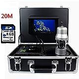 Dayangiii Unterwasserkamera, Portable 7 Zoll LCD-Monitor Fish Finder,20m 360 ° rotierende 1200TVL Unterwasserkamera, HD-Unterwasser-Recorder Video-System