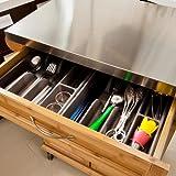 SoBuy® Luxus-Küchenwagen aus hochwertigem Bambus mit Edelstahltop, Küchenschrank, Kücheninsel B66xT46XH90cm FKW13-N - 3