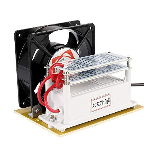 KKmoon 10g/h Fan portátil del purificador del filtro de aire de la máquina de la desinfección del generador del ozono...