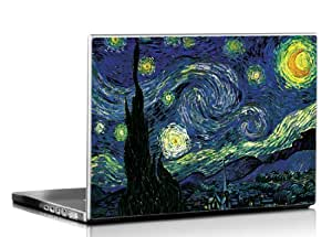Seven Rays Starry Night by Vincent Van Gogh Laptop Skin Compatible for All Models