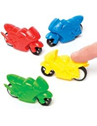 Friction Motorcycle Racers For Children - Fun Party Bag Stuffer Loot Gifts For Kids (Pack Of 6)