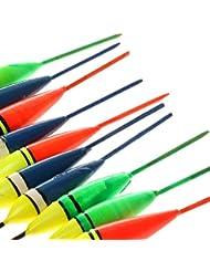 Gazechimp Kit de 10Pcs Plastique Flotteurs Bobbers de Pêche sur Glace Multicolore