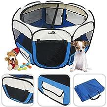 Lolipet - Entrenamiento Jaula Valla / Parque de juego entrenamiento y dormitorio - Plegable parque para cachorros -color azul