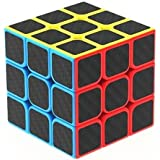 Emob High Speed Carbon Fiber Sticker 3x3 Colors Magic Rubik Cube Puzzle Toy with Adjustable Speed (5.5cm)