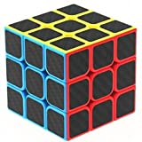 #7: Emob High Speed Carbon Fiber Sticker 3x3 Colors Magic Rubik Cube Puzzle Toy with Adjustable Speed (5.5cm)