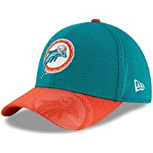 New Era Nfl Sideline 39Thirty Miadol Otc - Cappello Linea Miami Dolphins da Uomo, colore Turchese, taglia S-M