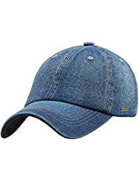 Sidiou Group Cappello da Baseball da Uomo Denim Jeans Casual di Colore  Solido Lavato Cappello di 3598e1f5d271